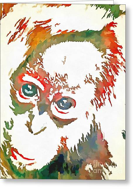Monkey Pop Art Greeting Card