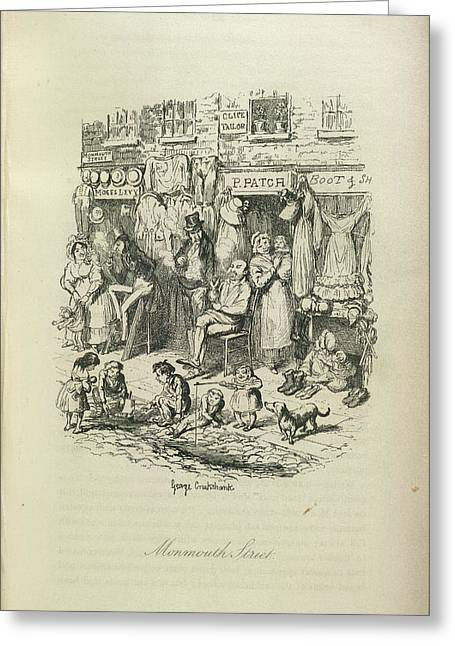 Monmouth Street Greeting Card by British Library
