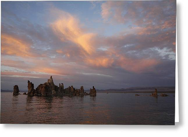 Mono Lake At Sunset Greeting Card