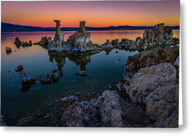 Mono Lake California Sunrise Greeting Card by Scott McGuire