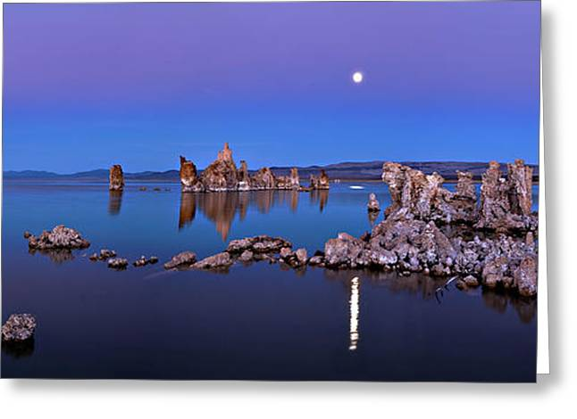 Mono Lake Moon Rise Greeting Card