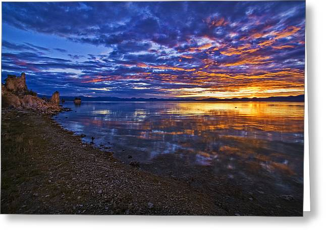 Greeting Card featuring the photograph Mono Lake Sunrise by Priscilla Burgers