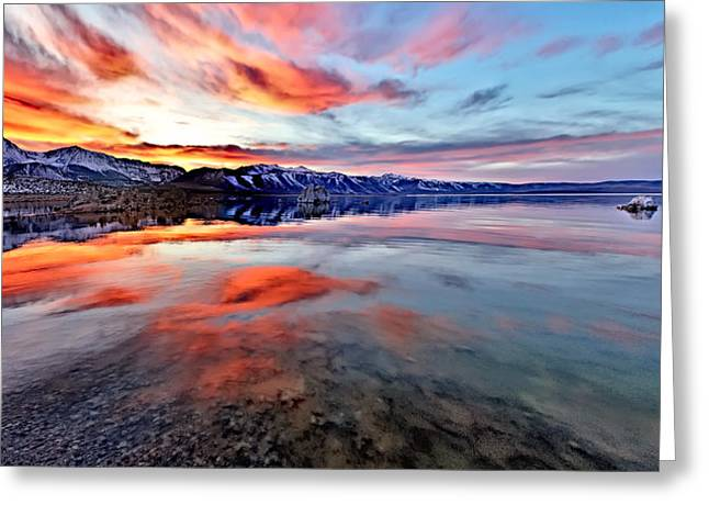 Mono Lake Sunset 2 Greeting Card