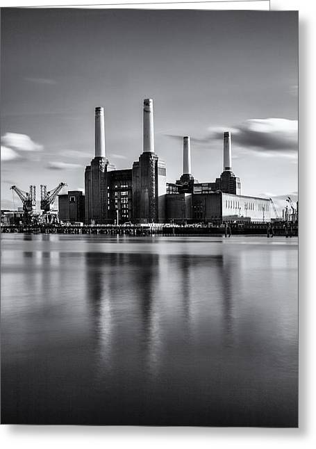 Mono Power Station Greeting Card