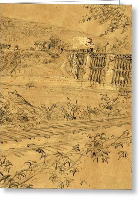 Monocacy R.r. Bridge, 1863 Ca. June-july Greeting Card