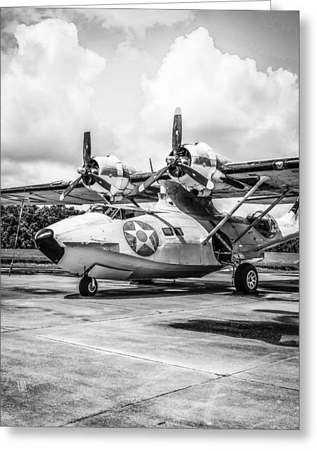 Monochrome Pby5a Greeting Card