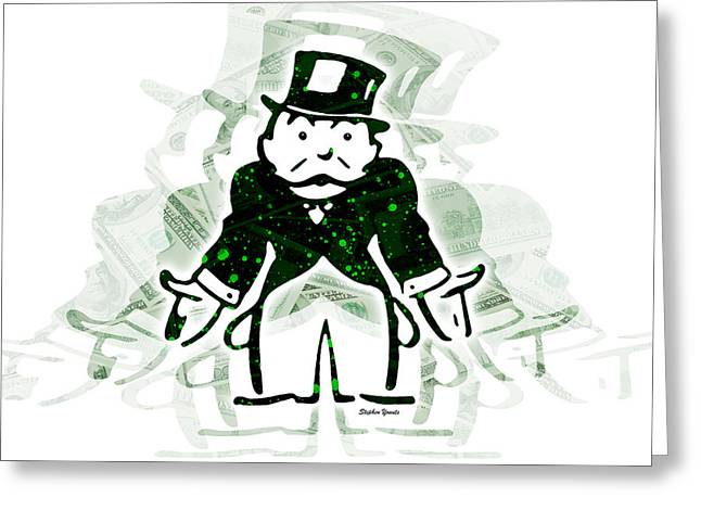 Monopoly Man - Tax Greeting Card by Stephen Younts