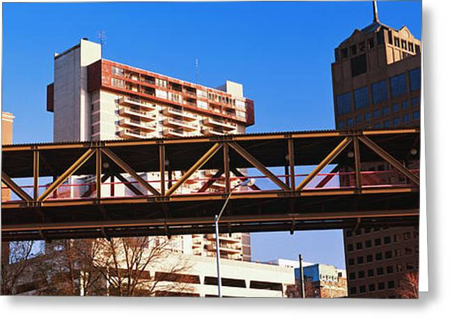 Monorail System In Memphis, Tennessee Greeting Card