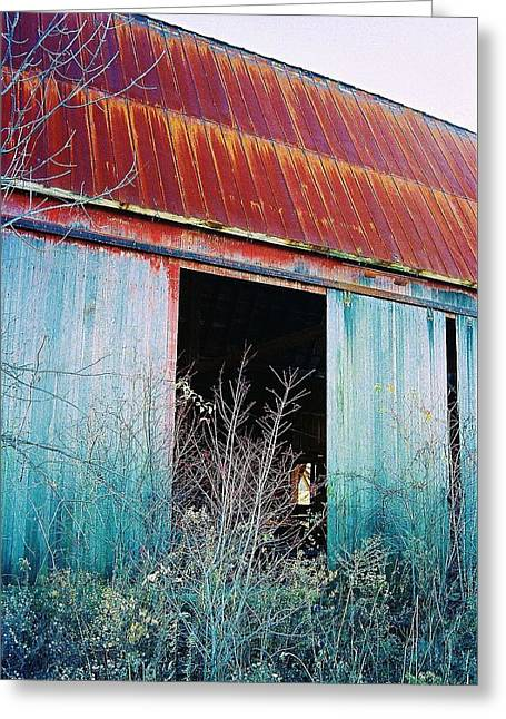 Greeting Card featuring the photograph Monroe Co. Michigan Barn by Daniel Thompson
