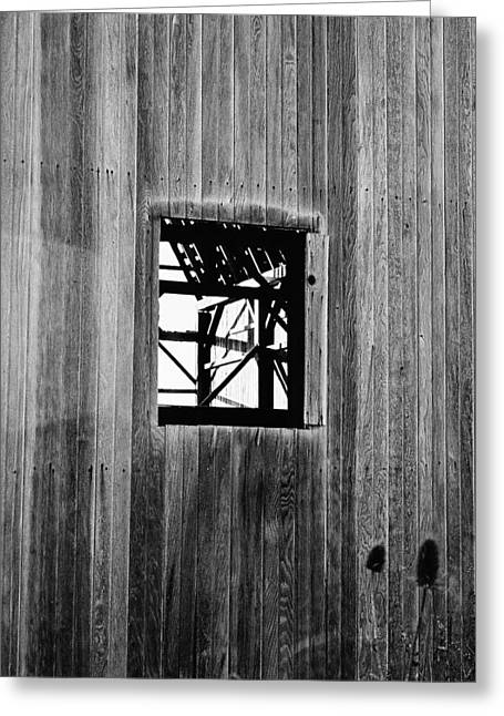 Greeting Card featuring the photograph Monroe Co. Michigan Barn Window by Daniel Thompson