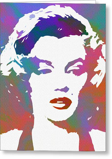 Monroe Goes Pop Greeting Card