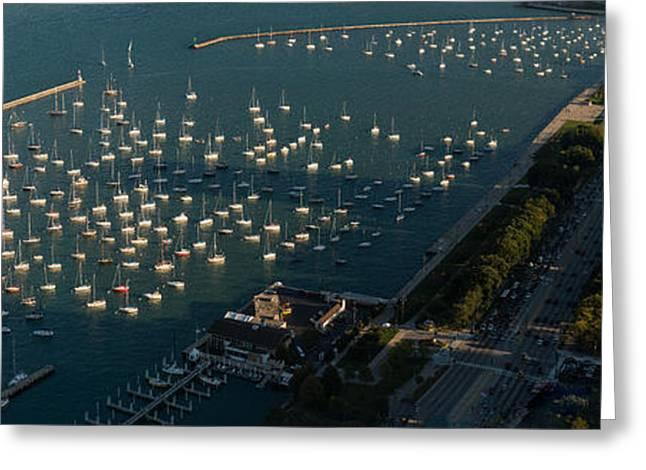 Monroe Harbor Chicago Greeting Card by Steve Gadomski