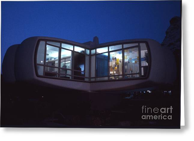 Monsanto House Of The Future At Disneyland At Night 1961 Greeting Card by The Harrington Collection
