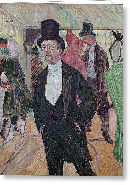 Monsieur Fourcade Greeting Card by Henri de Toulouse-Lautrec