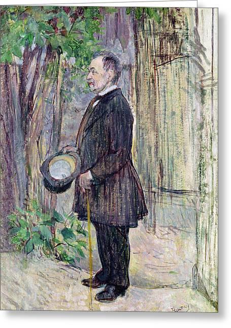 Monsieur Henry Dihau, 1891 Oil On Canvas Greeting Card by Henri de Toulouse-Lautrec