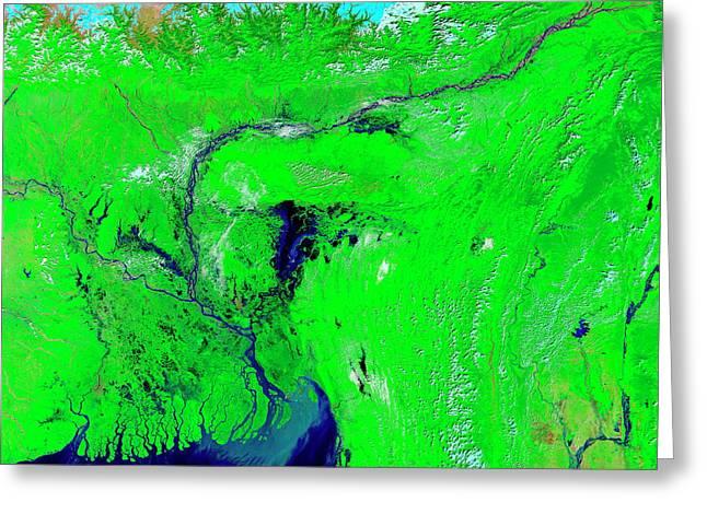 Monsoon Floods Greeting Card