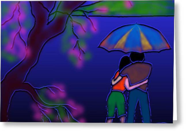 Monsoon Greeting Card by Latha Gokuldas Panicker