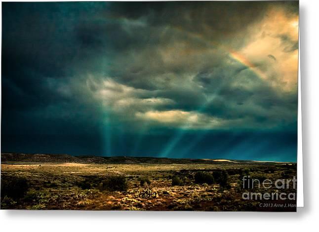 Monsoon Rainbow Greeting Card