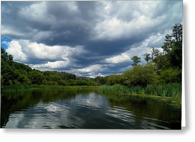 Monsoon Sky Greeting Card by Feva  Fotos