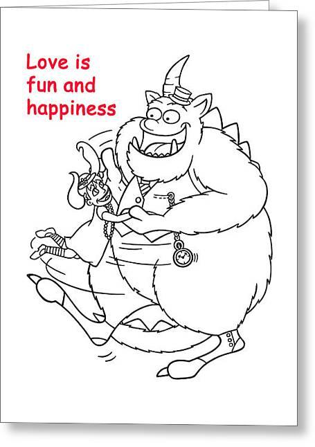 Monster Valentine Greeting Card