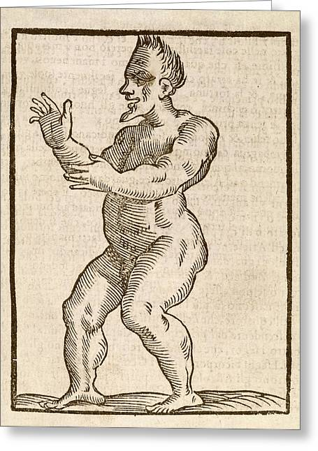 Monstrous Human Figure Greeting Card by Middle Temple Library