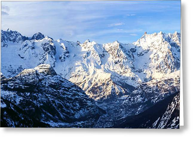 Mont Blanc View  Greeting Card