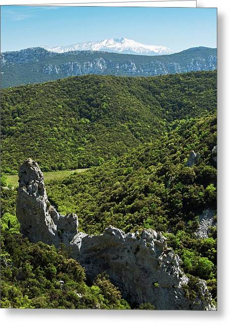 Mont Canigou Greeting Card by Bob Gibbons