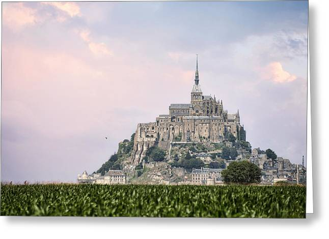 Mont Saint-michel Castle Greeting Card