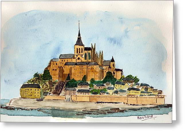 Mont Saint-michel Greeting Card