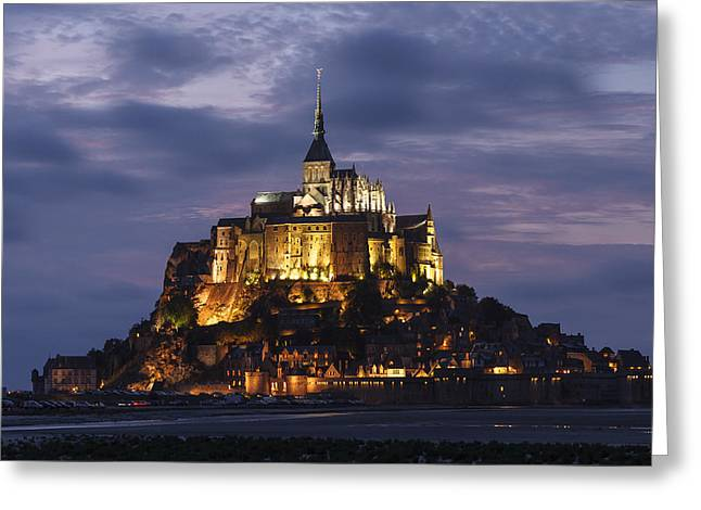 Mont Saint Michel Greeting Card by Sergio Lanza
