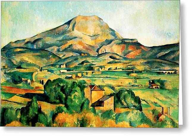 Mont Sainte-victoire Seen From Bellevue Greeting Card by Paul Cezanne