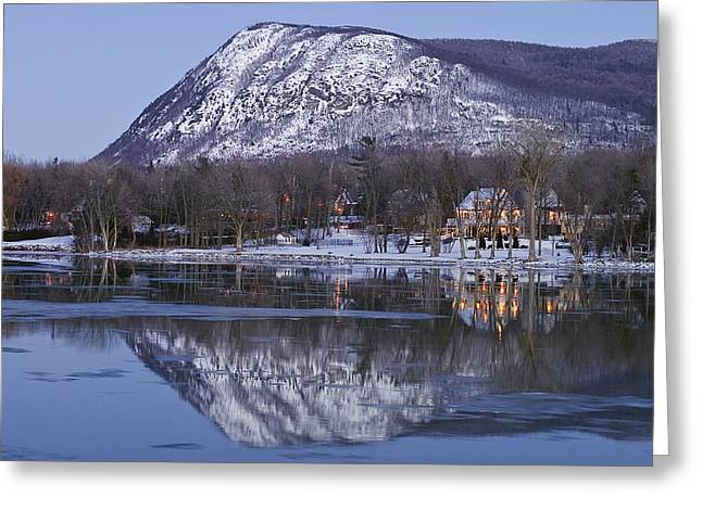 Mont St. Hilaire At Dusk Greeting Card