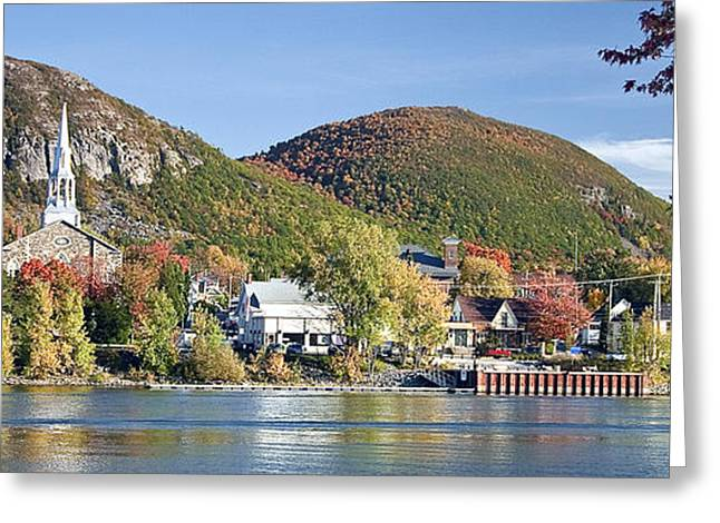 Mont St. Hilaire Autumn Scene Greeting Card