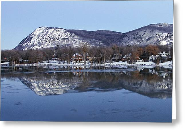 Mont St. Hilaire Mirror Image Greeting Card