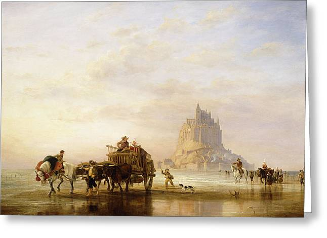 Mont St Michel Greeting Card by Edward William Cooke