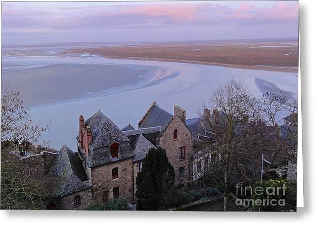 Mont St Michel Tower View Greeting Card