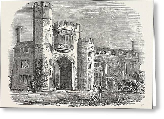 Montacute Priory 1853 Greeting Card by English School