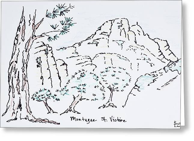 Montagne Sainte-victoire, South Greeting Card