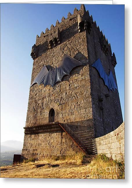 Montalegre Castle Greeting Card by Carlos Caetano