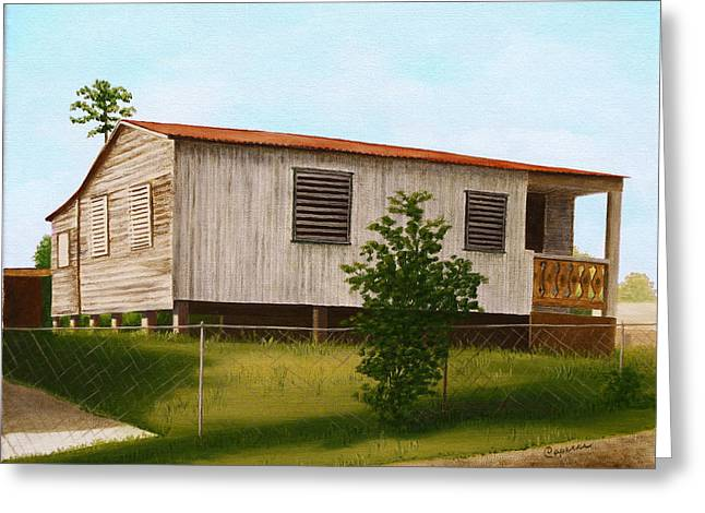 Montalvo Family House - Puerto Rico Greeting Card by Robin Capecci