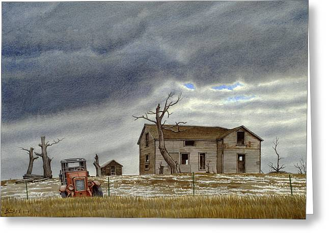 Montana Abandoned Homestead Greeting Card by Paul Krapf