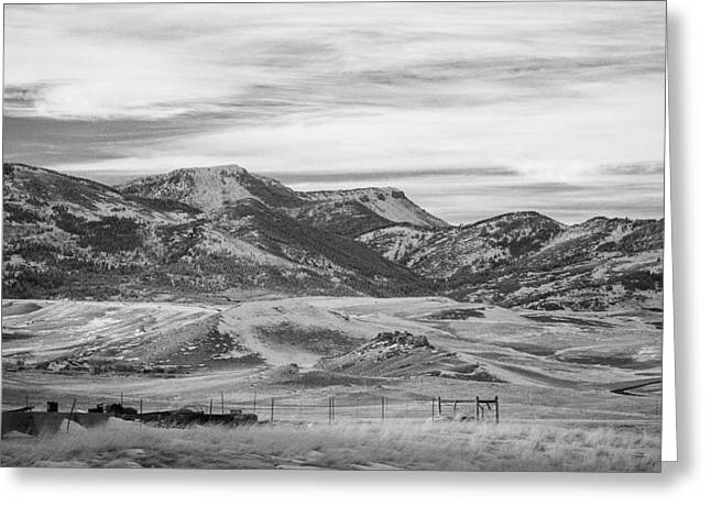 Montana Country Greeting Card by Paul Bartoszek