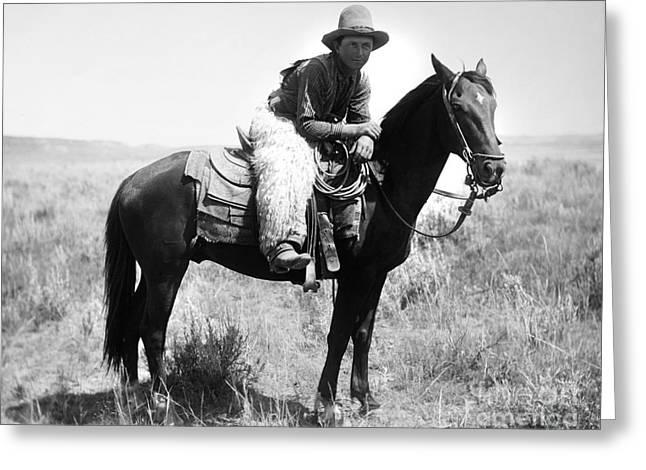 Montana Cowboy 1904 Greeting Card by Granger