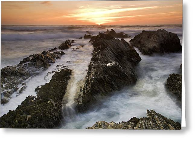 Montana De Oro Sunset 1 Greeting Card