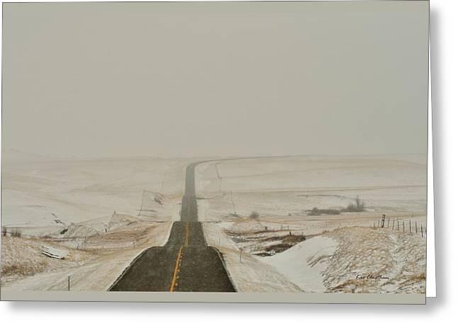 Montana Highway 3 Greeting Card