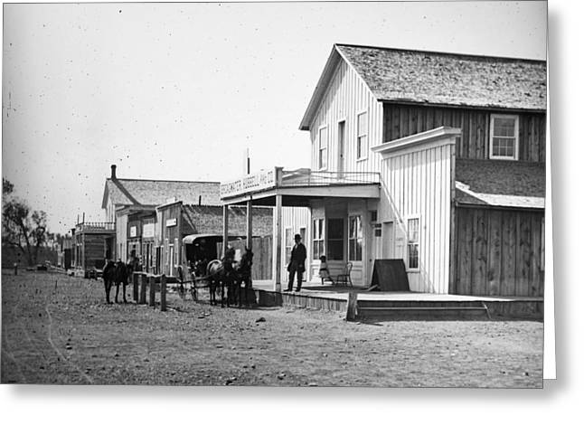 Montana Miles City, C1880 Greeting Card by Granger