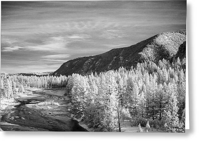 Montana Mountains Greeting Card by Paul Bartoszek