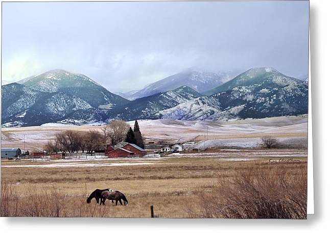 Montana Ranch - 1 Greeting Card