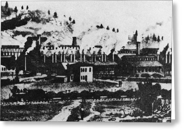 Montana Smelting, 1880s Greeting Card by Granger