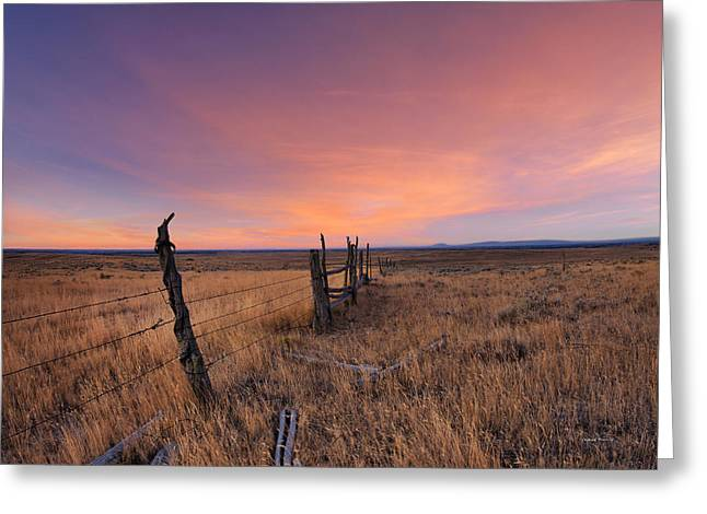 Montana Sunset Greeting Card by Leland D Howard